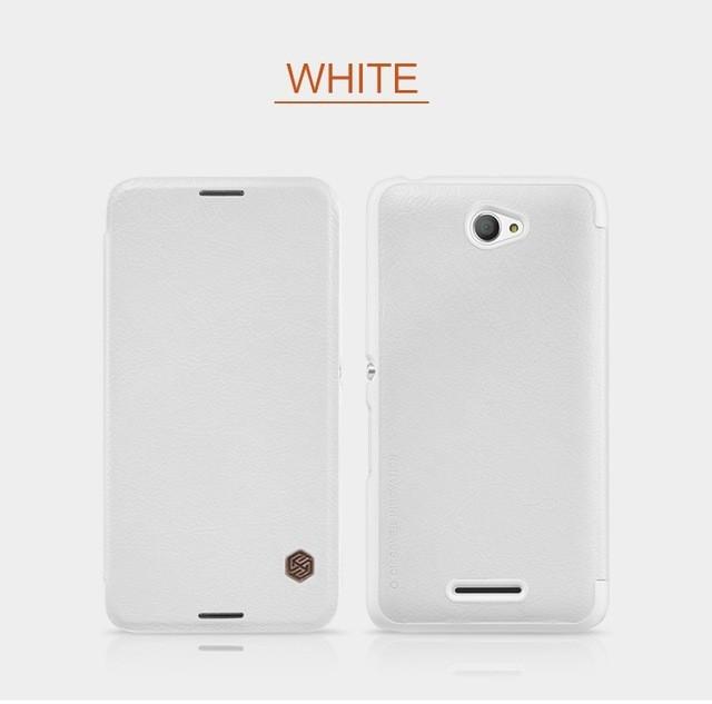 Чехол Nillkin Qin Leather Case для Sony Xperia E4 White (белый)