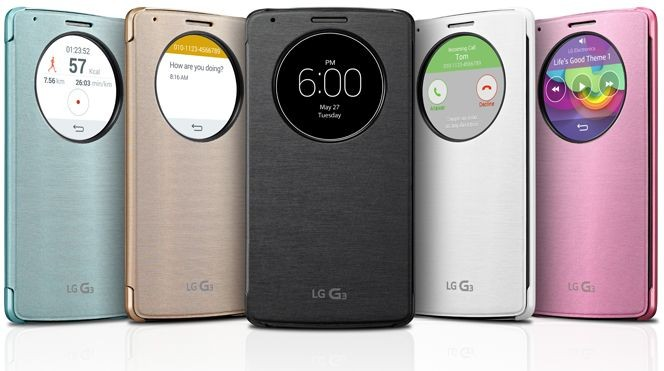 Чехол QuickCircle для LG G3 CCF-345G.AGRATB Black