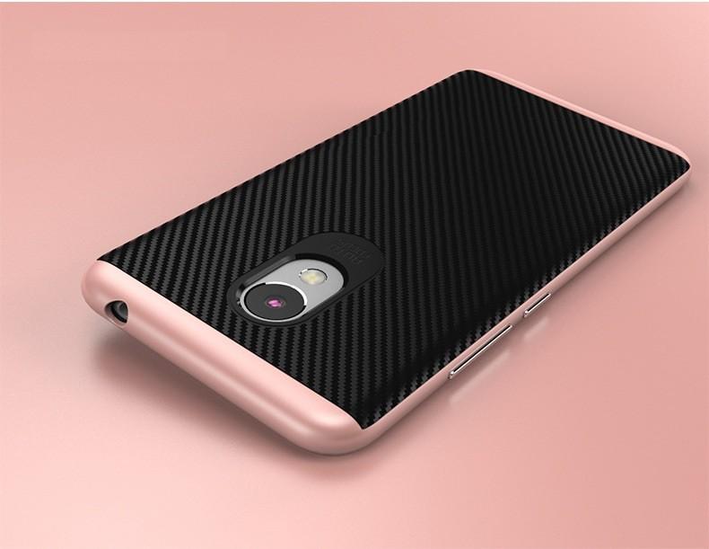 Накладка Hybrid силикон + пластик для Meizu M3 mini (M3s) розовая