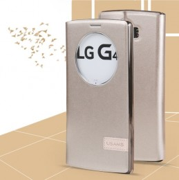 Чехол Usams Muge Series Window View для LG G4 Gold