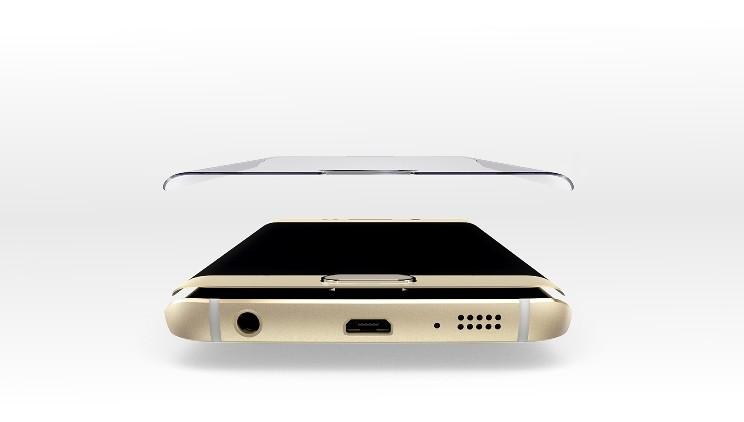 Защитное стекло для Samsung Galaxy S6 Edge+ G928 золотое