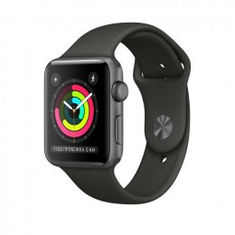 Apple Watch Series 3 42mm Space Gray Aluminum Case with Gray Sport Band (MR362) Серый космос/Серый