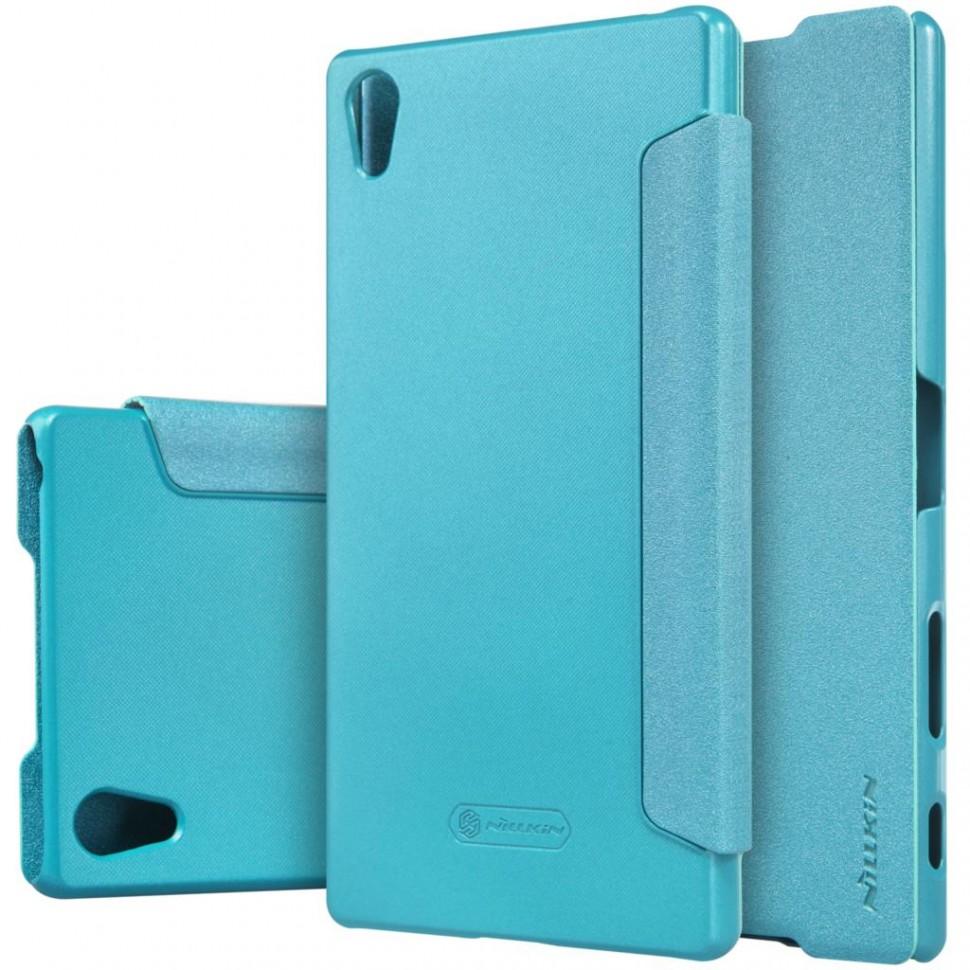 Чехол Nillkin Sparkle для Sony Xperia Z5 Premium Blue (голубой)