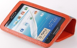 Чехол Yoobao Executive Leather Case for Samsung Galaxy Note II N7100 Оранжевый