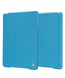 Чехол Jisoncase Executive для iPad 5 Air голубой