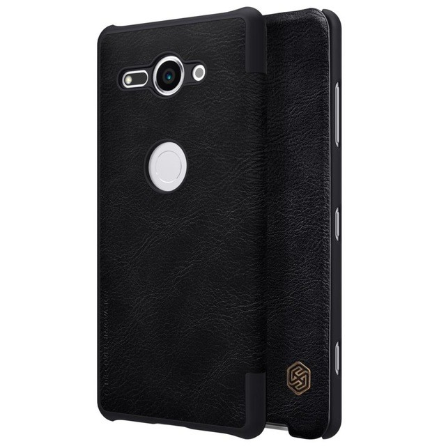 Чехол Nillkin Qin Leather Case для Sony Xperia XZ2 Compact Black (черный)