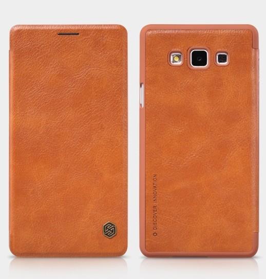 Чехол Nillkin Qin Leather для Samsung Galaxy A7 A700 Brown