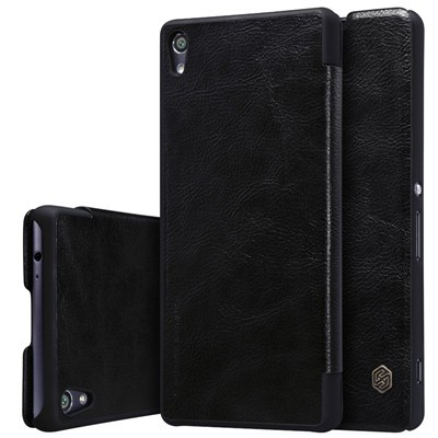 Чехол Nillkin Qin Leather Case для Sony Xperia XA Ultra Black (черный)