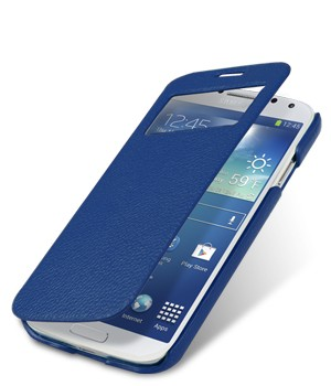 Чехол Melkco ID Book Type для Samsung Galaxy S4 I9500/9505 Dark Blue (темно-синий)