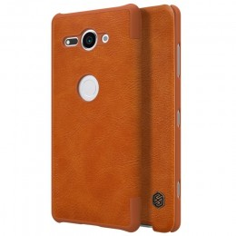 Чехол Nillkin Qin Leather Case для Sony Xperia XZ2 Compact Brown (коричневый)