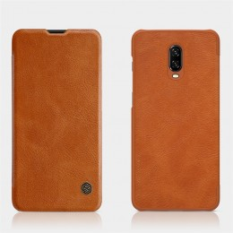 Чехол Nillkin Qin Leather Case для OnePlus 6T Brown (коричневый)
