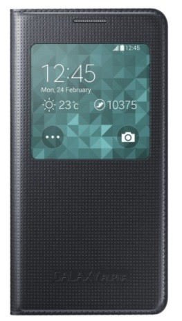 Чехол Flip Cover S-View для Samsung Galaxy Alpha G850 черный