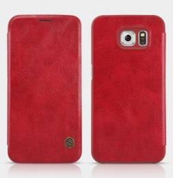 Чехол Nillkin Qin Leather Case для Samsung Galaxy S6 SM-G920 Red (красный)