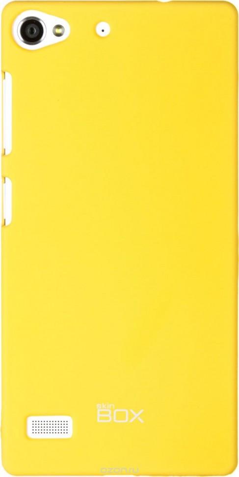 Накладка Skinbox 4People пластиковая для Lenovo Vibe X2 желтая