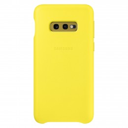 Накладка Samsung Leather Cover для Samsung Galaxy S10e SM-G970 EF-VG970LYEGRU желтая