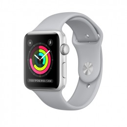 Apple Watch Series 3 38mm Silver Aluminum Case with Fog Sport Band (MQKU2) Серебристый/Дымчатый