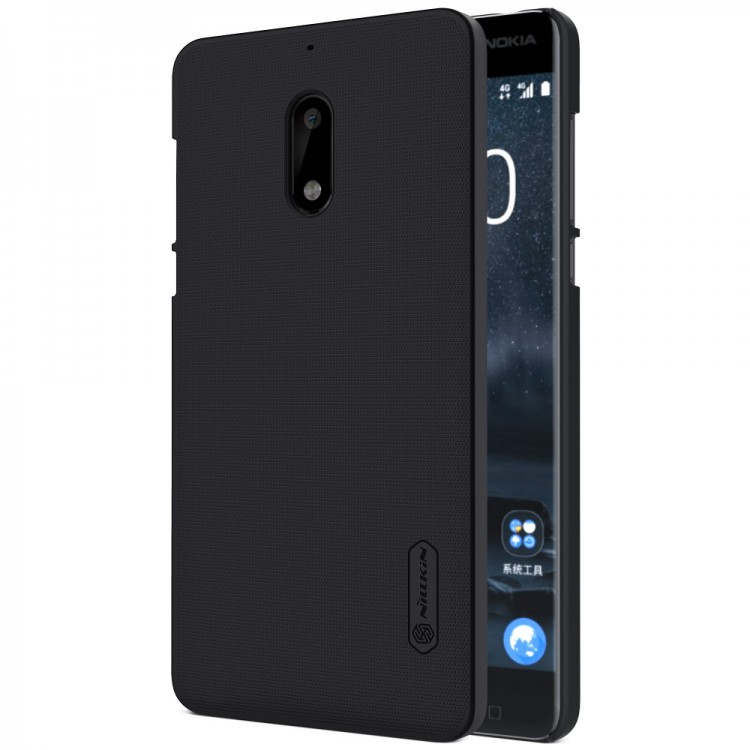 Накладка Nillkin Frosted Shield пластиковая для Nokia 6 Black (черная)