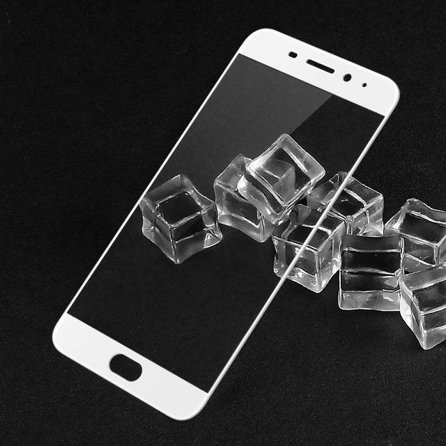 Защитное стекло для Meizu M5 Note полноэкранное белое