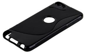 Накладка силиконовая для iPod touch 5 с отверстием под яблоко черная