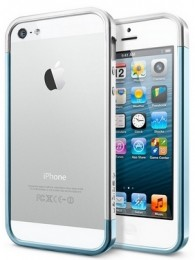Бампер SGP Case Linear EX Slim для iPhone 5 Metal Metal Blue