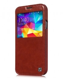 Чехол HOCO Crystal Leather Case для Samsung Galaxy S5 G900 Brown