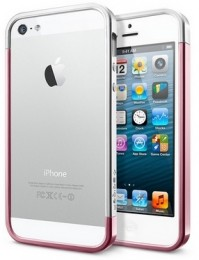 Бампер SGP Case Linear EX Slim для iPhone 5 Metal Metal Pink