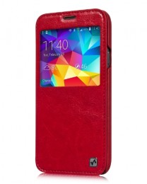 Чехол HOCO Crystal Leather Case для Samsung Galaxy S5 G900 Red