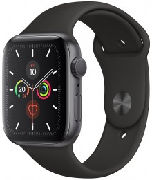 Apple Watch Series 5 GPS 40mm Space Gray Aluminum Case with Black Sport Band (MWV82)