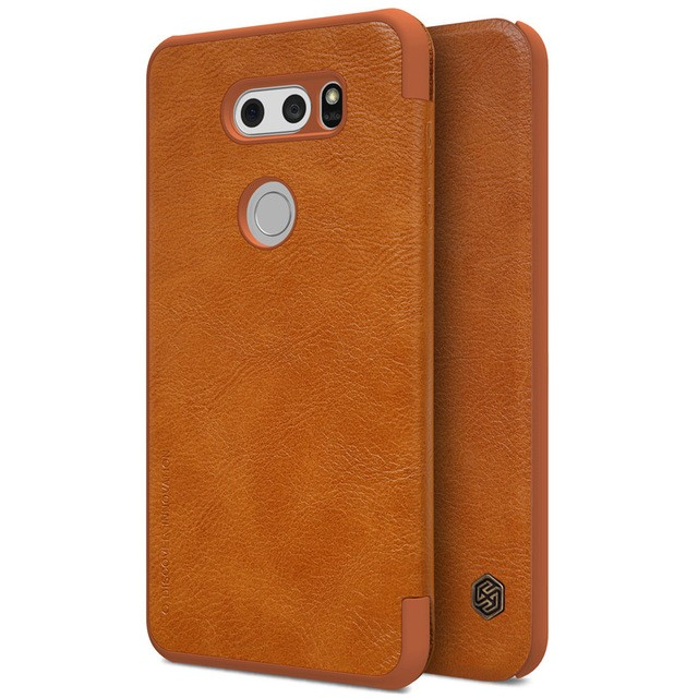 Чехол Nillkin Qin Leather Case для LG V30 Brown (коричневый)
