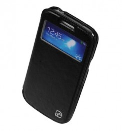 Чехол HOCO Leather Case Crystal View для Samsung Galaxy S4 i9500/9505 Black с окном