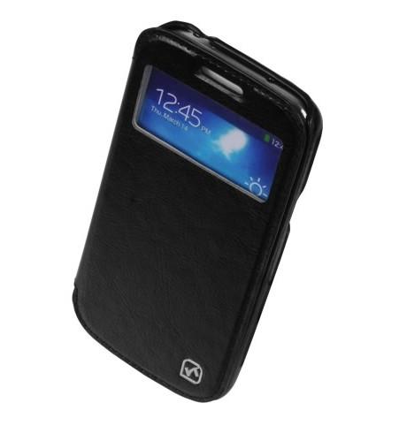 Чехол HOCO Leather Case Crystal View для Samsung Galaxy S4 i9500/9505 Black с окном