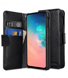 Чехол Melkco Wallet Book Series Lai Chee Pattern для Samsung Galaxy S10e SM-G970 Black (черный)