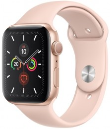 Apple Watch Series 5 GPS 40mm Gold Aluminum Case with Pink Sport Band (MWV72)