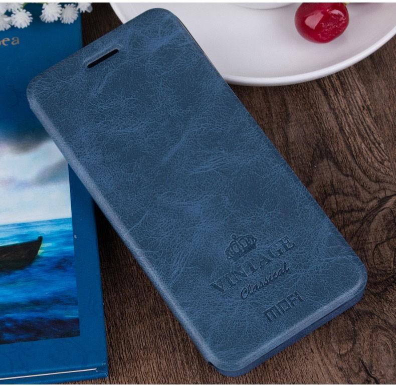 Чехол Mofi Vintage Classical для Huawei Honor 8 Blue (синий)