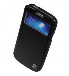 Чехол HOCO Leather Case Crystal View для Samsung Galaxy S4 mini i9190/9192/9195 Black с окном