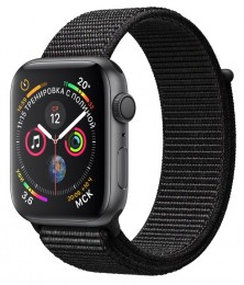 Apple Watch Series 4 GPS 40mm Space Gray Aluminum Case with Black Sport Loop (MU672) Серый космос/черный