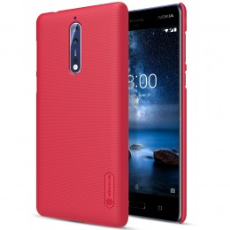 Накладка Nillkin Frosted Shield пластиковая для Nokia 8 Red (красная)