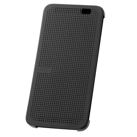 Чехол Dot View Flip Case (HC M110) для HTC One E8 серый