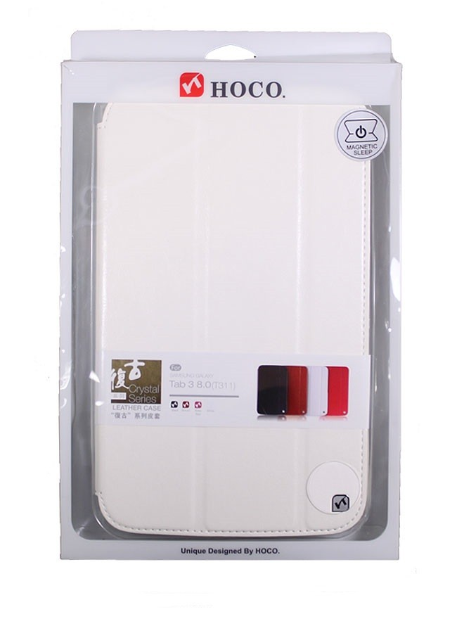 Чехол HOCO Crystal series Leather Case для Samsung Galaxy Tab3 8.0 T311/T310/T315 белый
