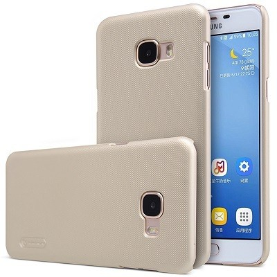 Накладка Nillkin Frosted Shield пластиковая для Samsung Galaxy C5 (C5000) Gold (золотая)
