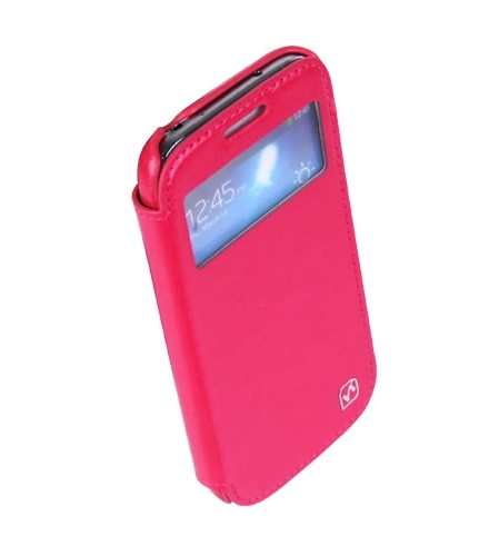 Чехол HOCO Leather Case Crystal View для Samsung Galaxy S4 mini i9190/9192/9195 Rose с окном