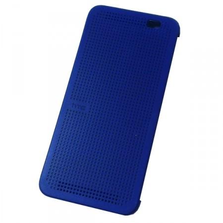 Чехол Dot View Flip Case (HC M110) для HTC One E8 синий