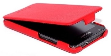 Чехол HOCO Leather Case для Samsung i9100 Galaxy S II Red