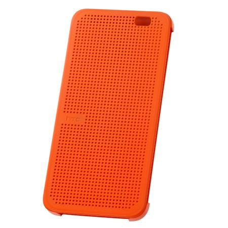 Чехол Dot View Flip Case (HC M110) для HTC One E8 оранжевый