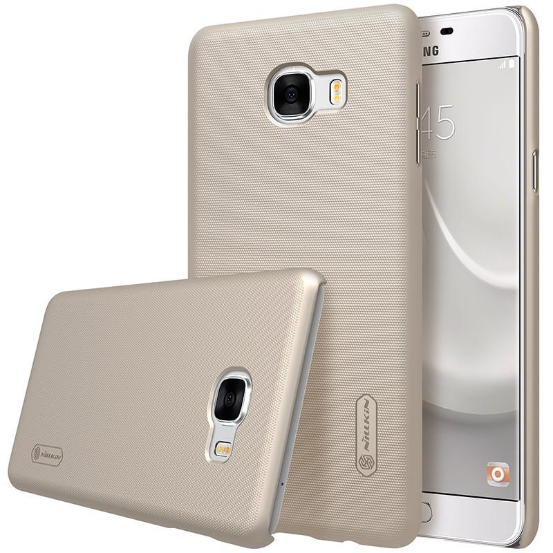 Накладка Nillkin Frosted Shield пластиковая для Samsung Galaxy C7 C7000 Gold (золотая)