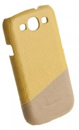 Накладка Melkco для Samsung Galaxy S3 i9300 Yellow/Khaki