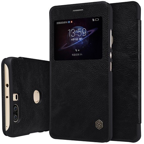 Чехол Nillkin Qin Leather Case для Huawei Honor V8 Black (черный)