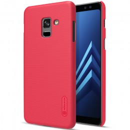 Накладка Nillkin Frosted Shield пластиковая для Samsung Galaxy A8 (2018) A530 Red (красная)