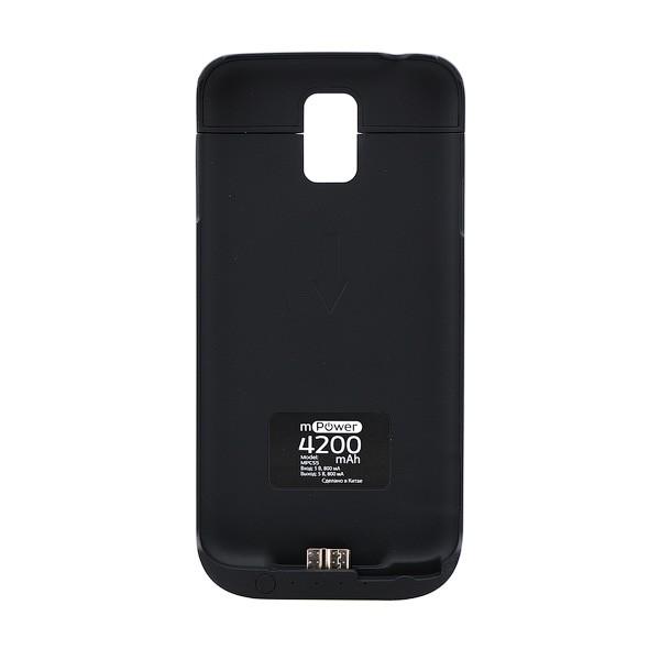 Чехол-аккумулятор с подставкой для Samsung Galaxy S5 G900 4200mAh черный
