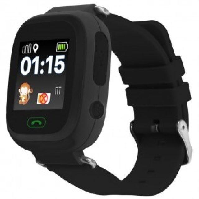 Детские часы с GPS-трекером Smart Baby Watch Q80 Black (черные)